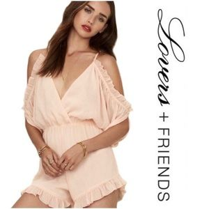 NWT Lovers + Friends Malia Cold Shoulder Romper